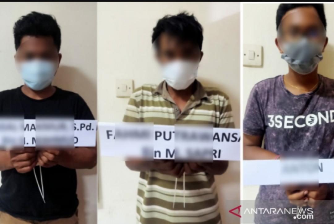 Diduga Edarkan Sabu, Polda Sultra Tangkap Tiga Karyawan VDNI