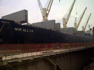 Ilustrasi: Penampakan MV Nur Allya